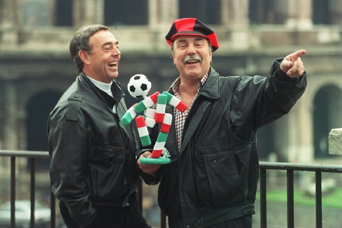 Saint and Greavsie in Rome, 1989