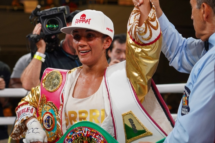 Amanda Serrano returns to the ring and successfully defends her world titles
