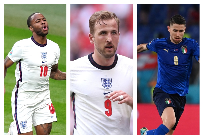 Raheem Sterling, Harry Kane and Jorginho all feature in our combined XI