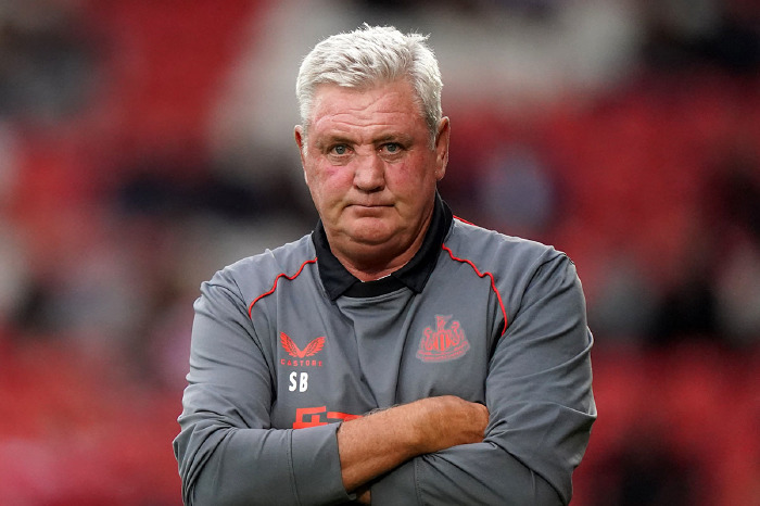 Steve Bruce looks on in anger as Newcastle manager