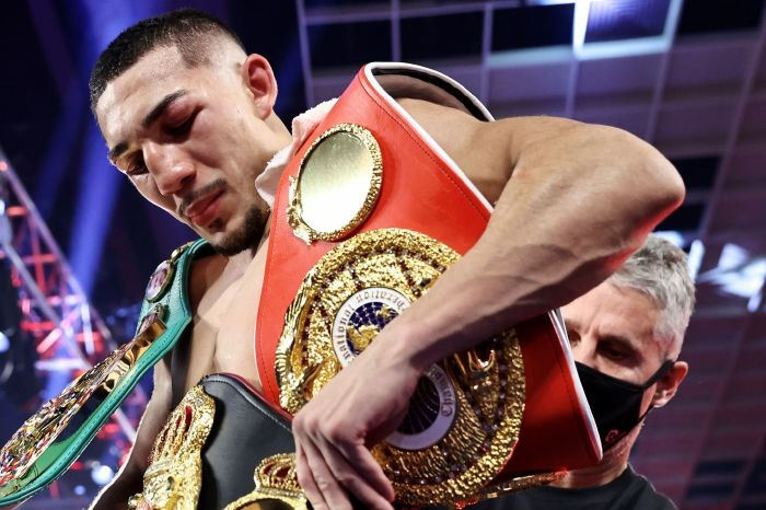 Teofimo Lopez is the youngest four-belt holder in the history of boxing at the age of 23
