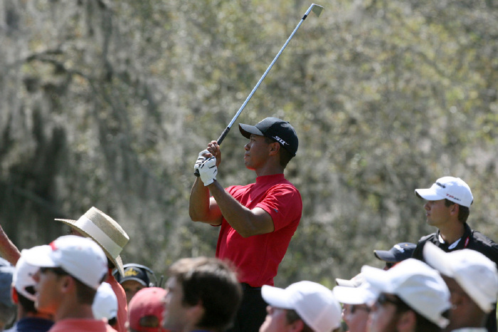 Tiger Woods on his way to victory at Bay Hill in 2008.