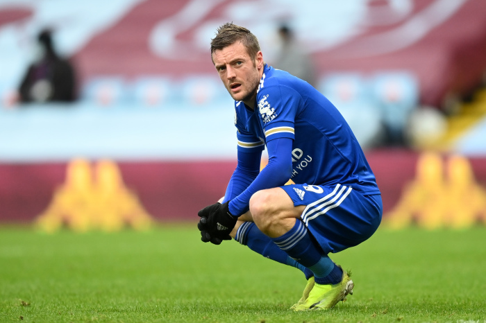 Jamie Vardy scored nine goals from 15 games against Man City
