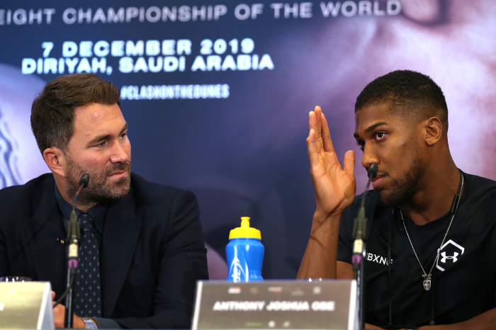 Eddie Hearn gives an update on the future of Anthony Joshua