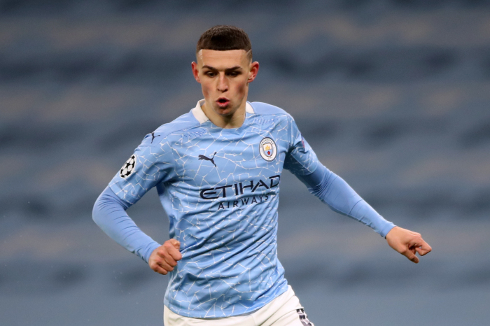 Manchester City's Phil Foden during the UEFA Champions League Semi Final, first leg, at the Parc des Princes in Paris, France
