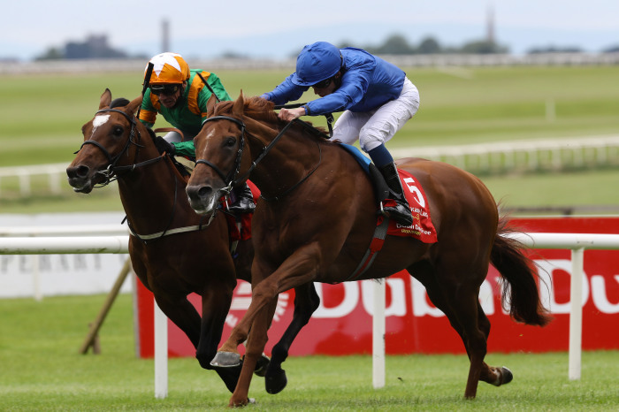Doncaster racecourse - the scene of Saturday's St Leger