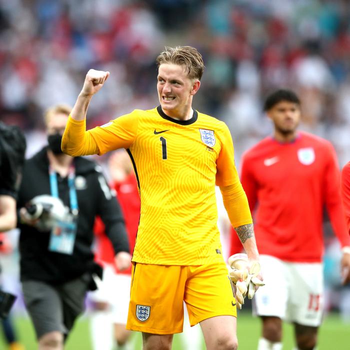 Jordan Pickford celebrates