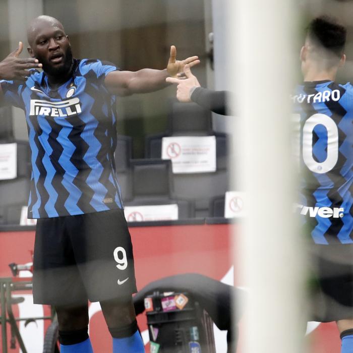 Romelu Lukaku was celebrating as Inter Milan beat AC Milan 3-0 at the San Siro