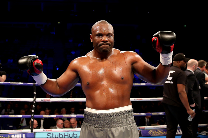 Dereck Chisora brings theatricality to weigh-in ahead of Oleksandr Usyk bout