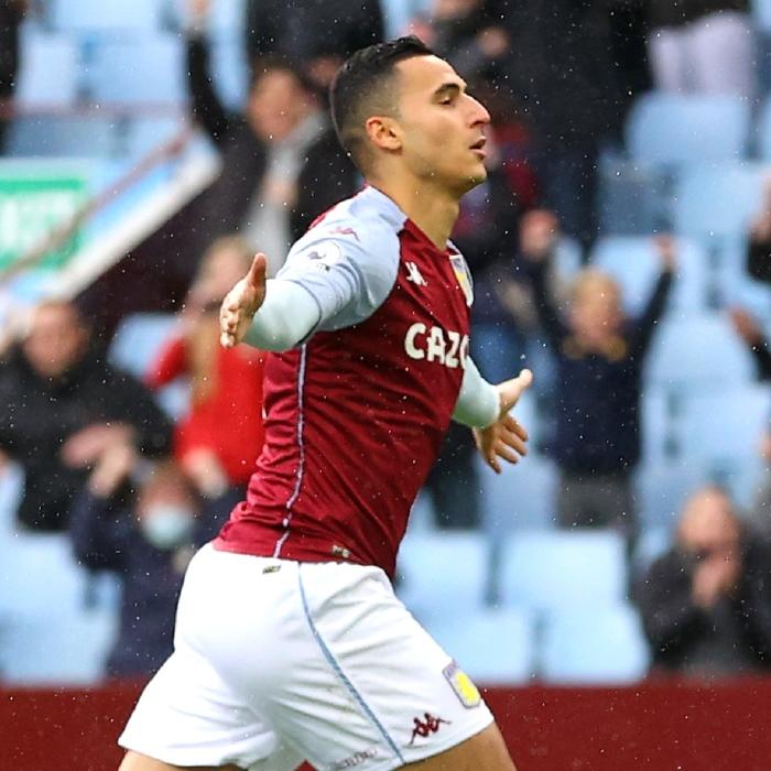 Anwar El Ghazi celebrates scoring for Aston Villa