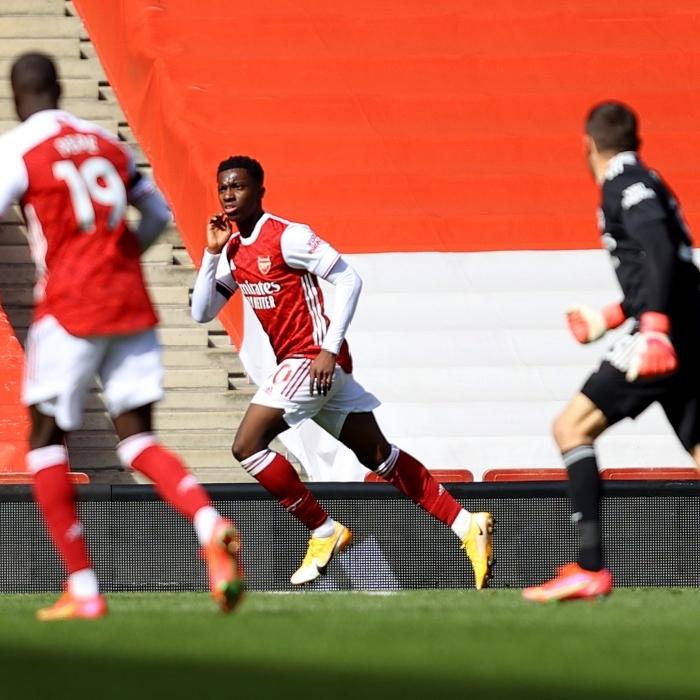 Big-six club Arsenal celebrate their 97th-minute equaliser against Fulham.