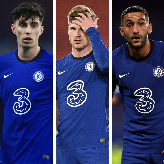 Chelsea's misfiring striker Kai Havertz, Timo Werner and Hakim Ziyech