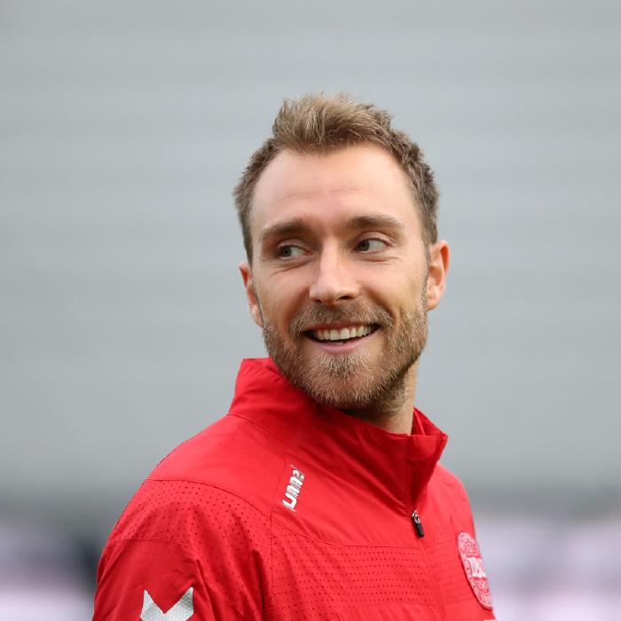 Christian Eriksen in good spirits while training with Denmark