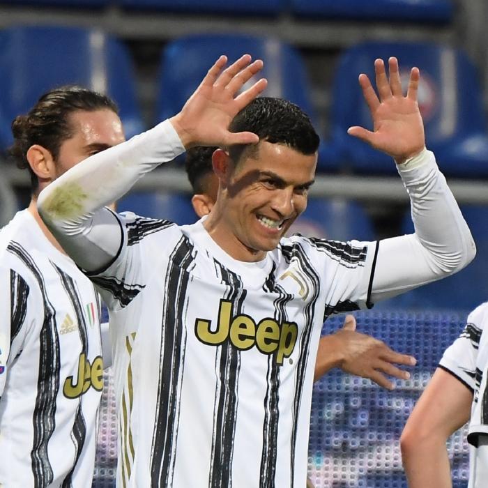 Cristiano Ronaldo scored a hat-trick against Calgiari to move ahead of Pele as the leading scorer of all time.