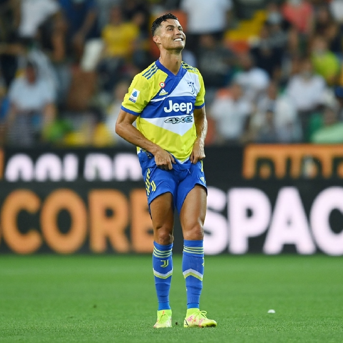 Cristiano Ronaldo stands in frustration after Juventus draw 2-2 with Udinese in Serie A.
