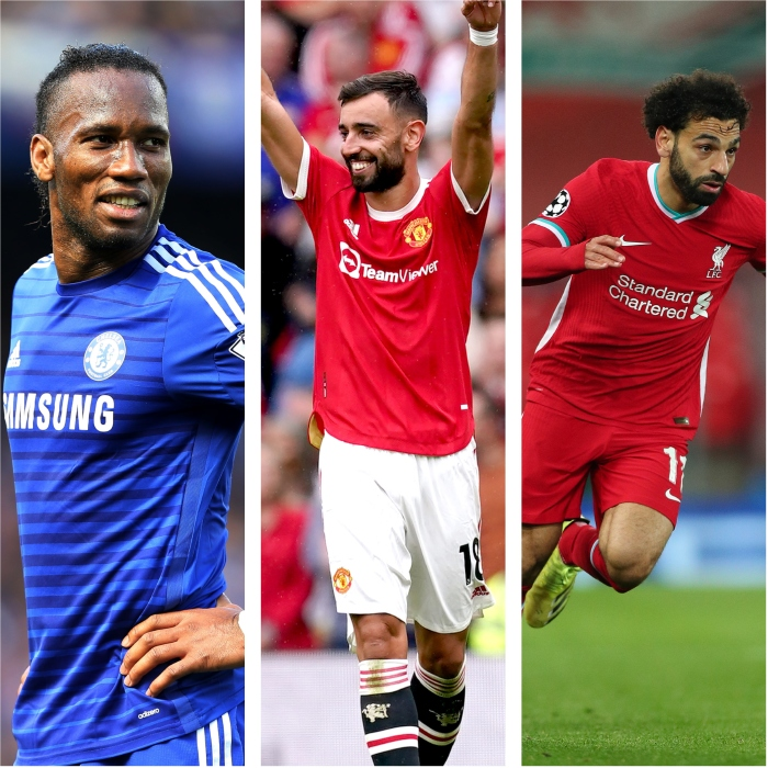 Drogba, Fernandes and Salah are among a handful of players to score a hat-trick on the opening day of the Premier League.