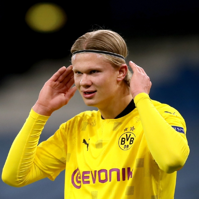 Erling Haaland was again in the spotlight as Manchester City beat Borussia Dortmund in the Champions League