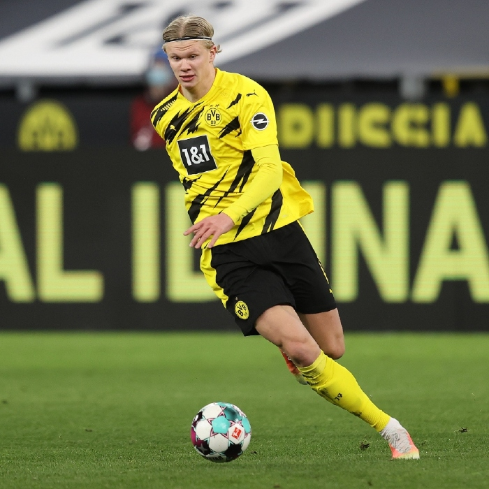 Haaland in action for Borussia Dortmund
