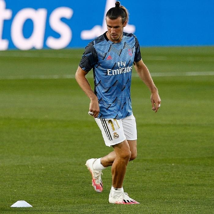 Gareth Bale warms up for Real Madrid against RCD Mallorca in the Alfredo Di Stefano Stadium, La Liga 2020