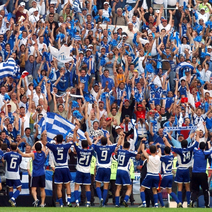 Greece put a marker down in their opening game of Euro 2004
