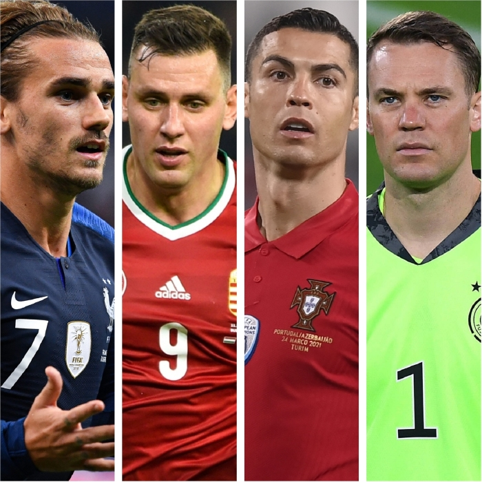 Antoine Griezmann and France are set to take on Adam Szalai and Hungary, Cristiano Ronaldo's Portugal and Manuel Neuer and Germany in Group F