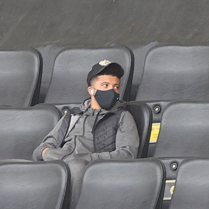 Jadon Sancho is again likely to be sidelined when Borussia Dortmund face Manchester City in the last eight of the Champions League
