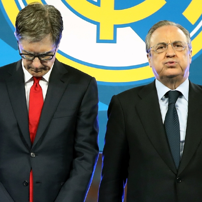 John Henry, left, has apologised to Liverpool fans after European Super League plans unravelled