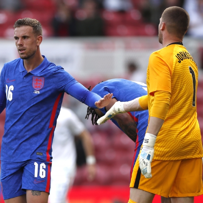 There were mixed fortunes for Jordan Henderson and Sam Johnstone when England took on Romania on Sunday