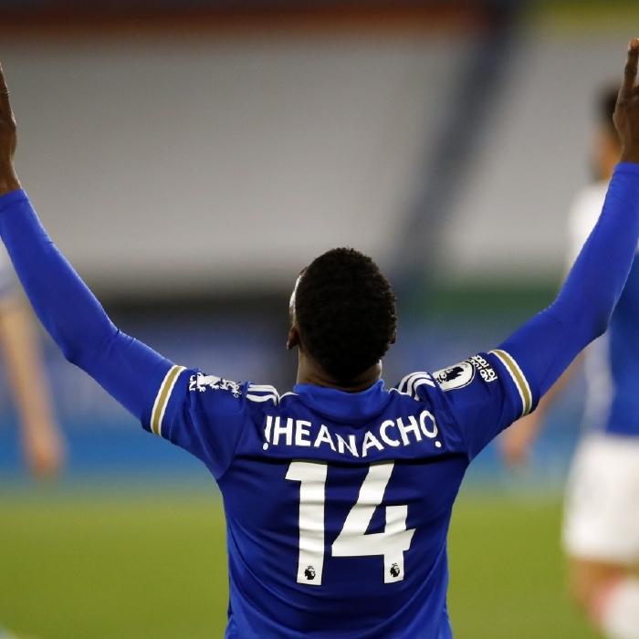 Kelechi Iheanacho celebrates his winner against Crystal Palace