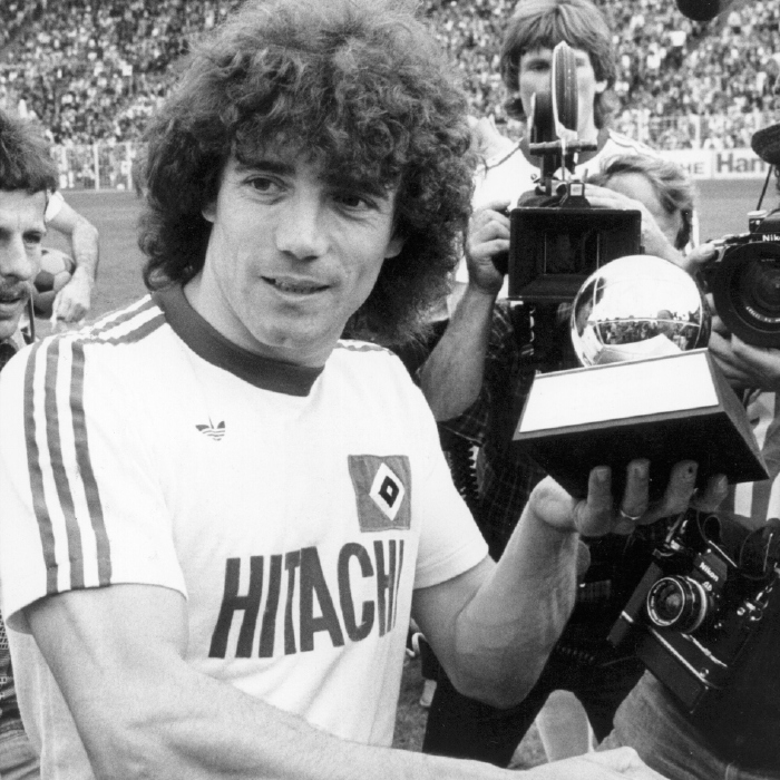 Kevin keegan shows off his Ballon d'Or in May 1979