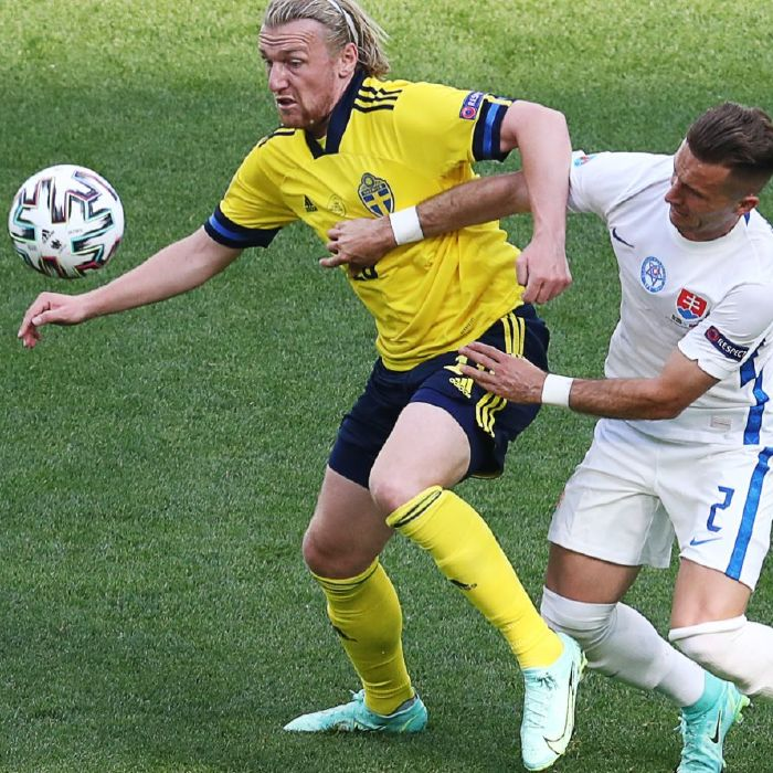 Sweden secured their first Euro 2020 win over Slovakia