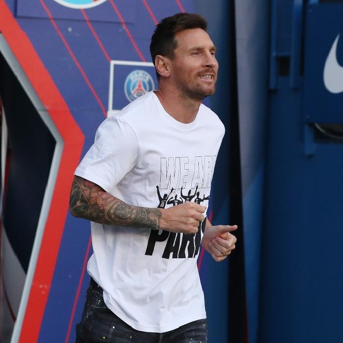 Lionel Messi PSG unveiling