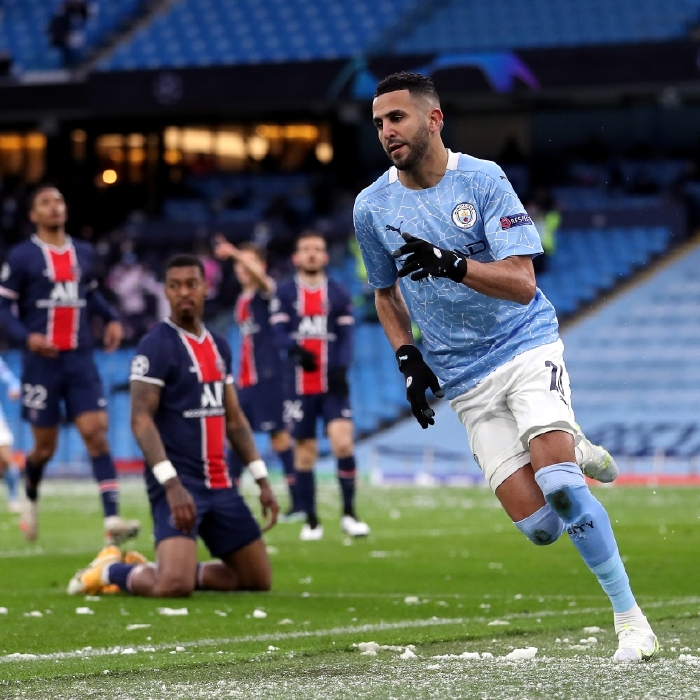 Manchester City are through to the Champions League final after a double from Riyad Mahrez