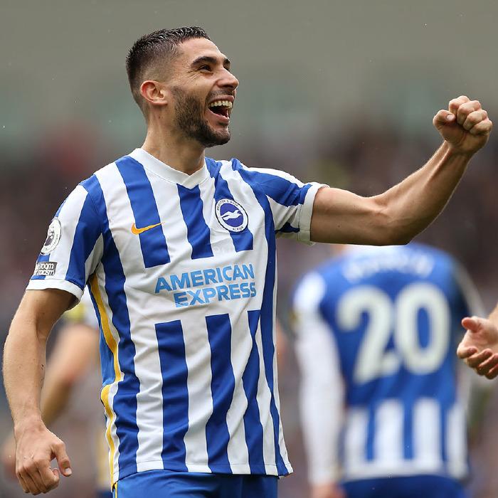 Neal Maupay celebrates for Brighton