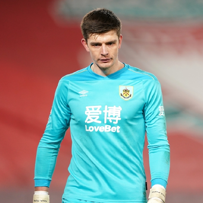 Burnley keeper Nick Pope has been the subject of intense speculation linking him with Tottenham Hotspur