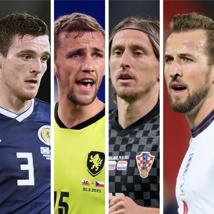 Andy Robertson's Scotland are set to face Tomas Soucek's Czech Republic, Luka Modric and Croatia and a Harry Kane-led England in Group D