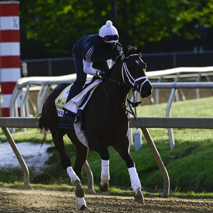 Rombauer has been drawn in a favourable post position for the Belmont Stakes
