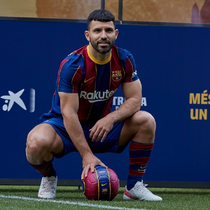 Sergio Aguero is unveiled as a Barcelona player