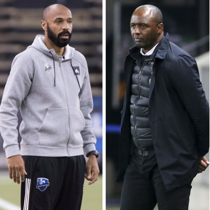 Former Arsenal team-mates Thierry Henry and Patrick Vieira are battling it out for the Bournemouth manager's job