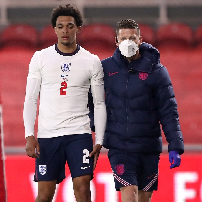 Trent Alexander-Arnold limped off in the closing stages of England's 1-0 win over Austria