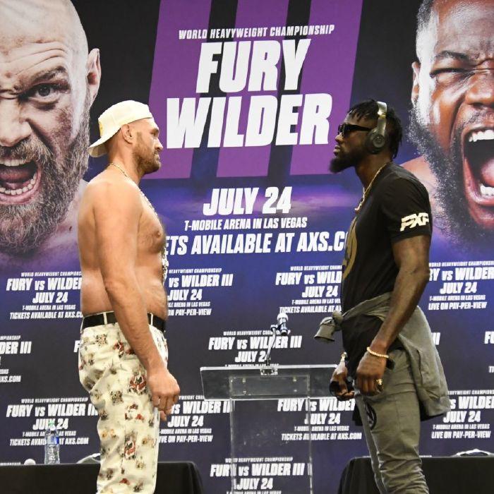 Fury v Wilder face off Las Vegas (June 2021)