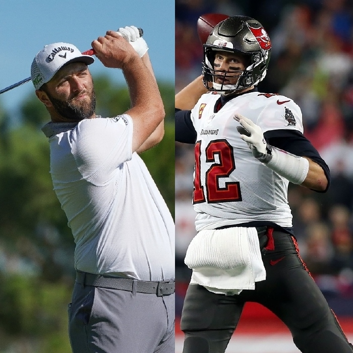 Jon Rahm is in action at the Estrella Damm N.A. Andalucía Masters and Tom Brady and the Tampa Bay Buccaneers will play on Thursday Night Football