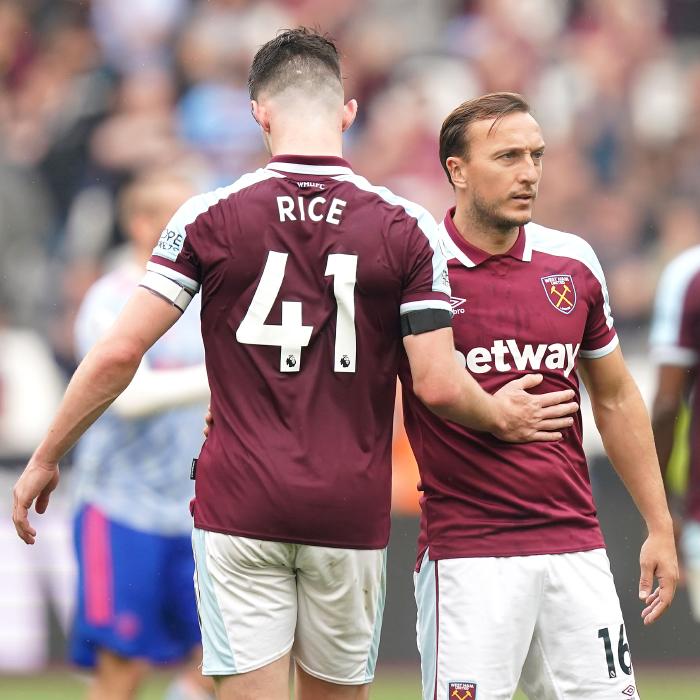 Declan Rice, Mark Noble, West Ham United